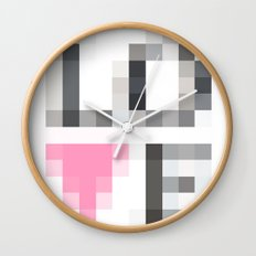 Exaggerated Pixelated LOVE Wall Clock