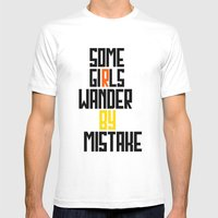 Some girls wander Mens Fitted Tee White SMALL