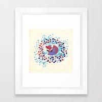 Berry fox - nostalgic Framed Art Print
