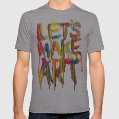LET'S MAKE ART Mens Fitted Tee Athletic Grey SMALL
