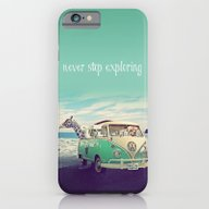 iPhone & iPod Case featuring NEVER STOP EXPLORING THE… by Monika Strigel