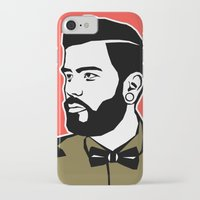 hipster iPhone & iPod Cases featuring hipster by mark ashkenazi