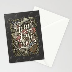Rain, Tea & Books - Color version Stationery Cards