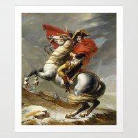 Napoleon Crossing The Al… Art Print