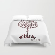 Drink - Oscar Wilde Duvet Cover