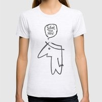 wth? man Womens Fitted Tee Ash Grey SMALL