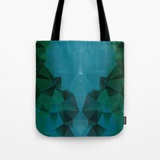 PEACOCK POLYGON Tote Bag