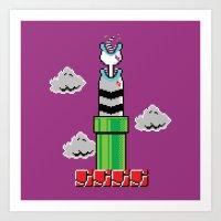 8-Bit Sand Snake Art Print