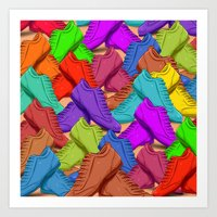 shoes Art Prints featuring shoes by ErsanYagiz