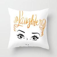 Bombshell Series: Laughter - Lucille Ball Throw Pillow