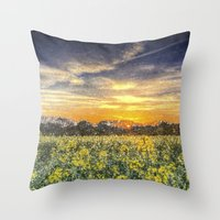 April Afternoon Field Ar… Throw Pillow