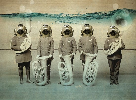 the diving bell Tuba quintet Canvas Print