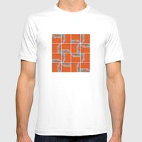 Wall Pattern Mens Fitted Tee White SMALL