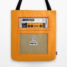 Retro Orange guitar electric amp amplifier iPhone 4 4s 5 5s 5c, ipad, tshirt, mugs and pillow case Tote Bag