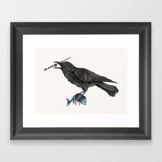Hunter Of The Sky Framed Art Print