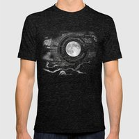 Moon Glow Mens Fitted Tee Tri-Black SMALL