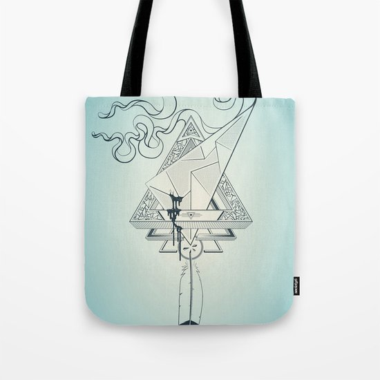 Star Catcher V01 (Black Outline) Tote Bag
