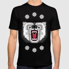 Polar Bear Geometric SMALL Black Mens Fitted Tee