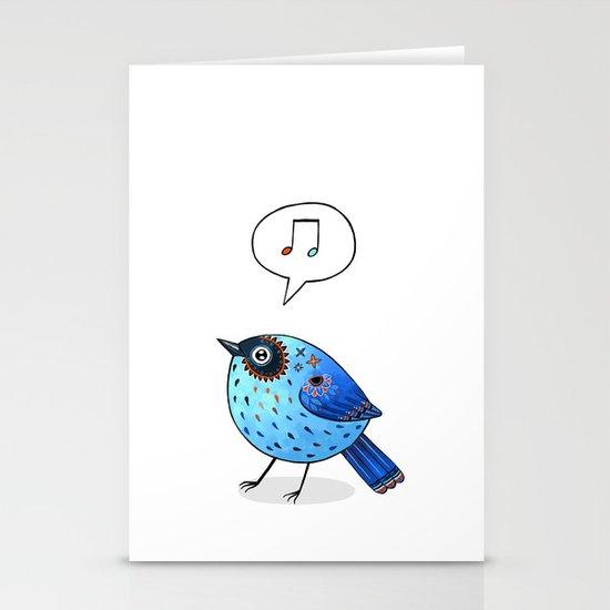 Blue Bird Stationery Card