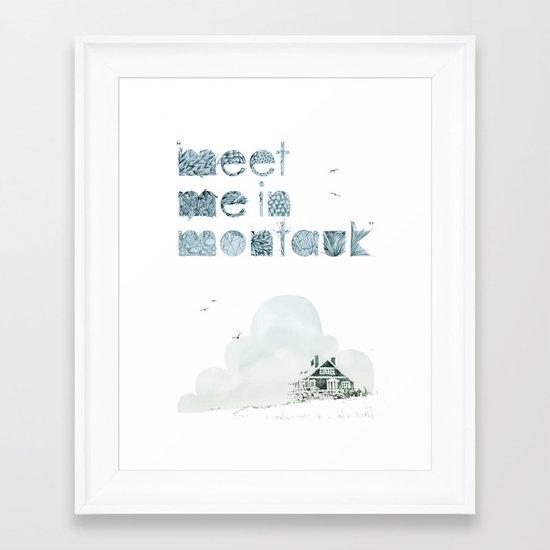 """""""Meet Me In Montauk"""" Framed Art Print"""