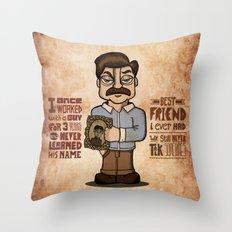 Ron Swanson 3 Throw Pillow