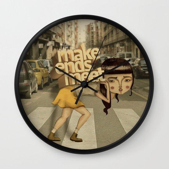 make ends meet Wall Clock
