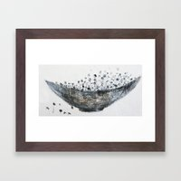 Flower Bowl Framed Art Print