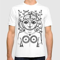 Indian Woman Landscape Mens Fitted Tee White SMALL