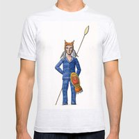 Lynx Warrior Mens Fitted Tee Ash Grey SMALL