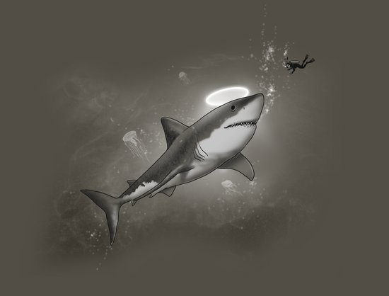 HOLY SHARK! Art Print