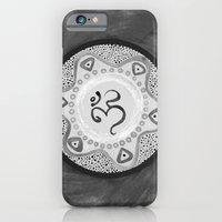 iPhone Cases featuring Ohm / Om (Black & White) by HollyJonesEcu