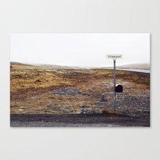 Post box, Iceland Canvas Print