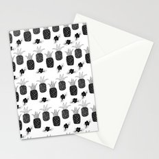 Pineapples - Black and White Stationery Cards