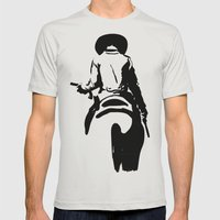 Cowboy Mens Fitted Tee Silver SMALL