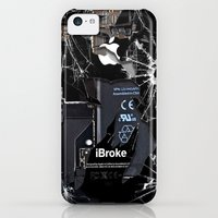 iPhone 5c Cases featuring Broken, rupture, damaged, cracked black apple iPhone 4 5 5s 5c, ipad, pillow case and tshirt by Three Second