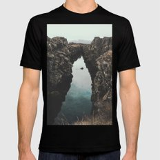 I left my heart in Iceland - landscape photography Mens Fitted Tee Black SMALL