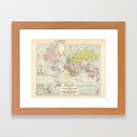 Colonial Possessions Of … Framed Art Print