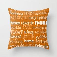 Thanksgiving Celebration Throw Pillow