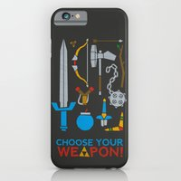 iPhone & iPod Case featuring Choose Your Weapon Dark by John Tibbott