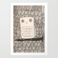 Jeffery The Owl Art Print