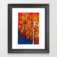 Petal Drop Framed Art Print