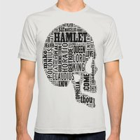 Shakespeare's Hamlet Sku… Mens Fitted Tee Silver SMALL