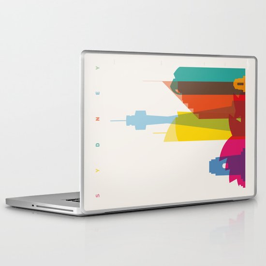 Shapes of Sydney. Accurate to scale Laptop & iPad Skin