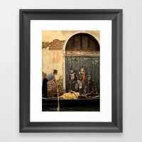 Gondola and Graffiti Framed Art Print