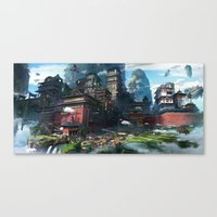 Massive City Canvas Print