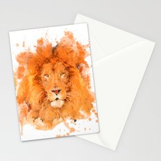 Splatter Lion Stationery Cards