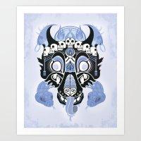 Canis Lupus: Black Art Print