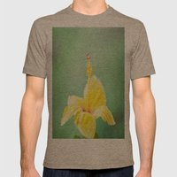 Yellow Hibiscus 2 Mens Fitted Tee Tri-Coffee SMALL