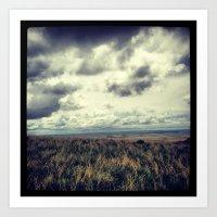 Fields - Badlands, South Dakota  Art Print