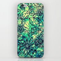 Drawing Flowers - for iphone iPhone & iPod Skin